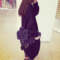 Ultra long paragraph casual loose pocket batwing sleeve sweater outerwear cardigan