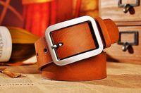 Modern stylish cowskin genuine leather belt for women or men by factory length 105-130CM