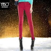 Yaso2014 female super soft velvet plus velvet thickening pencil pants plus size skinny jeans