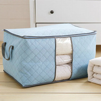 Big Size 3 Colors Bamboo Charcoal Wardrobe Storage Bag Bedding Set Quilt Blanket Clothes Organizer Clear Window Home Makeup Bags
