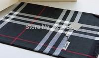 Fashion British style classic plaid wool scarf quality logo cape scarfs