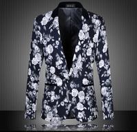 2015 New Fashion Spring Jacket Men Floral Print Blazer Men Casual Suits For Men Blazer Slim Fit Suit Jakcet Plus Size 5XL 6XL