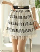 New Style Fashion Women Sexy Skirt Lace skirts Elegant skirt of bitter fleabane bitter fleabane skirt  Size:M 60% cotton