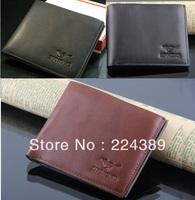 Free Shipping Men leather Clip money wallets,men slim designer brand purse wallets black brown wolves wallets