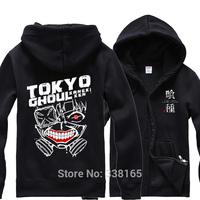 Anime Tokyo Ghoul Kaneki Ken Cosplay Hoodie Zipper-up Coat Jacket Thick Warm Hooded Tops Uniform Suit Costume Size M L XL XXL