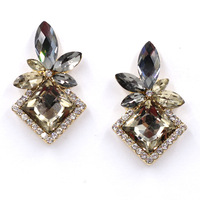 High quality Wholesale New 2015 women statement earring fashion crystal stud Earrings for women jewelry lady gift