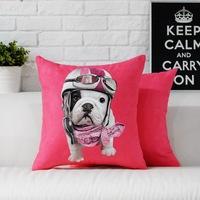Creative Animal Cartoon  Cute dog pillow cushion cover Pillowcases office home Decorative sofa cushions Car Cushion 45cm*45cm