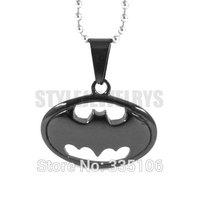 Free shipping! Black Batman Pendant Stainless Steel Jewelry Classic Cool Batman Biker Pendant SWP0290B