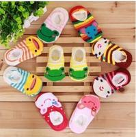 Cotton Lace Decoration Child Slip-Resistant Floor Socks Baby Cartoon Socks Thin Infant Sock Slippers