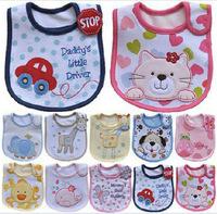 100% cotton waterproof small baby bibs supplies bib Hot kids Saliva Towel Lunch Infants Cartoon Pattern Bibs