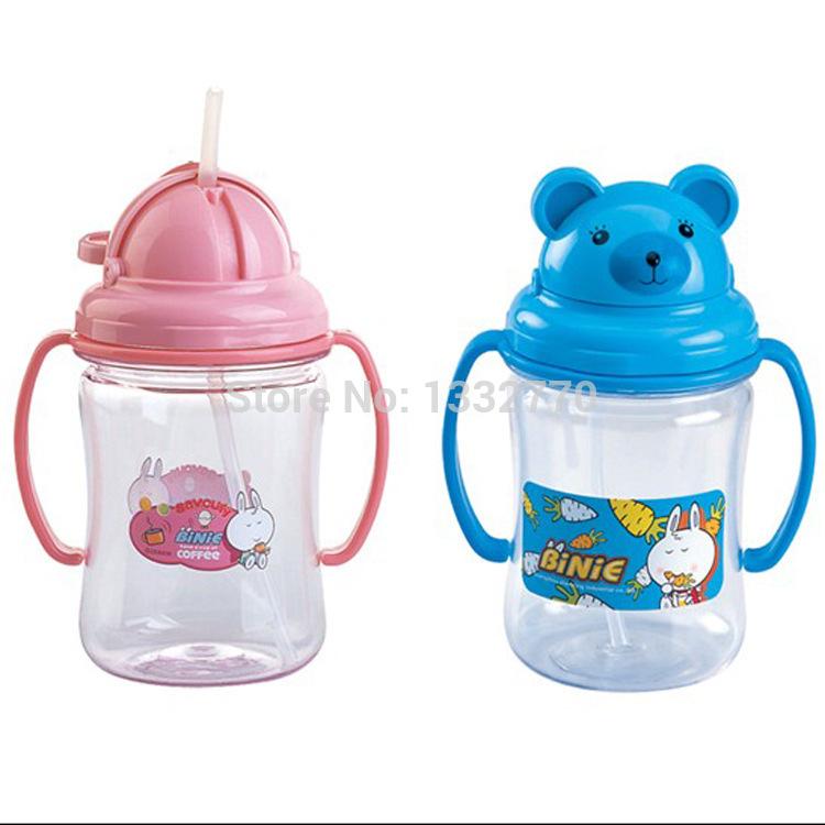 Cartoon Milk Bottle Milk Bottle Plastic Straw