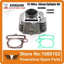 YinXiang YX 140cc 56mm Cylinder + Gasket  Kit Fit  KAYO IRBIS GPX PIT PRO Dirt Bike Pit Bike Engine  Free Shpping