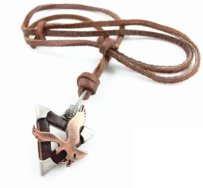 Genuine Unisex Retro Antique Horse Pendant Punk Rock Charming Leather Choker Necklace Chain Cord(China (Mainland))