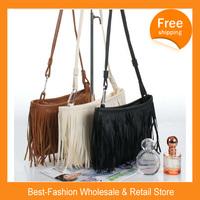 Free Shipping 2014 Hot Sale Handbags Small Fashion Fringed Shoulder Bag Diagonal  Casual Handbags Three Color
