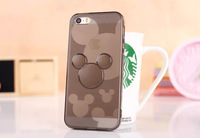 cartoon mickey tpu soft back case protective soft Phone cover For iPhone 6 plus 5.5 inch PC Cover free shipping