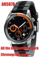 Casual fashion AR5878 Chronograph Watches Men Luxury Brand Analog Sports Military Watch High Quality Quartz Relogio Masculino