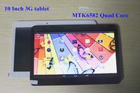10 Inch 3G Phone Tablet PC MTK6582 3G WCDMA Android 4.4.2 Quad Core 1.5Ghz 2GB/16GB GPS Bluetooth Dual SIM Slots