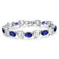 2014 European Fashion  Accessories Luxury AAA Zircon Crystal Bracelet 18k Gold Platinum Plated Engagement Wedding Women Jewelry
