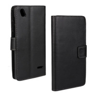 Scolour Leather Slot wallet Stand Flip Cover Skin Case For ZTE BLADE VEC 4G Smartphone Free shipping&Wholesale