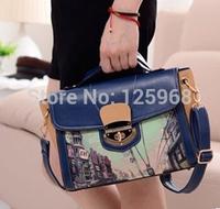 2015 New top women's handbag graffiti pattern bag shoulder cross-body bag messenger bags free shipping