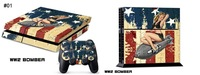 Cover Skin Sticker For PS4 Playstation 4 Console & 2 Controller Skins 25 styles