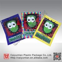 Custom printed Smacked herbal bag, smacked bubble gum herbal incense ziplock bag
