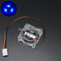 40mm 12V 3pin PC VGA GPU Chipset Replacement Cooling Fan PL40S12L Blue LED