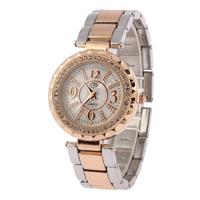 Women Rhinestone Watches Full Steel Bracelets Fashion Women's Leisure Quartz Watch Free Shipping