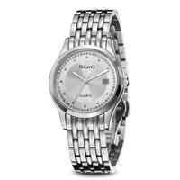 Waterproof Calendar Stainless steel watch wrist rhinestone watch men business watch/8056G