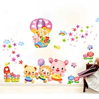 Children wall background of bedroom wall stickers Domestic outfit ABC1032 wall stickers home decor wall sticker