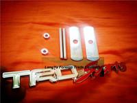 5sets/lot automobile front hood grill badge car grille TRD-SPORTS logo emblem with screws