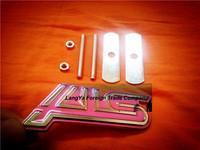 5sets/lot automobile front hood grill badge car grille STI logo emblem with screws