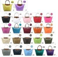 Large size long Handle Tote Shopping Bag Nylon WaterProof Colorful Handbag