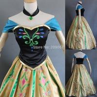 Women's Elsa Anna Cosplay Dress Costume Coronation Custom Made For Adult or Child