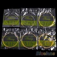 6pcs/set ORIGINAL Musical Instrument 150XL/012 inch 1st-6th Guitar parts Steel Strings For Acoustic Guitar