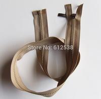 Light Brown 76.5cm resin teeth garment single head zipper 20pcs Free shipping