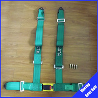 5pcs/lot Green color car racing harness racing chair seat belt width:3 inches/4Point