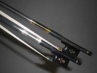 2 PC Strong Carbon Fiber Cello Bow 4/4 (1 Silver Silk Braid & 1 GOLD SILK BRAD)