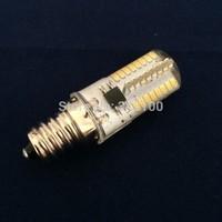 led E12 lamp AC110V 3014 6W LED Crystal Silicone Candle halogen lamps,Christmas lighting bulb warm white/white
