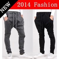 2014 NEW Winter Fashion Korean Style Cotton Men Sports hip hop harem Pants Casual Black joggers outdoors sweatpants 1107K