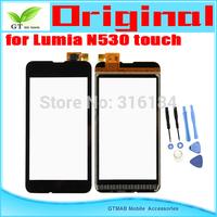 5pcs/lot Original Touch Screen Digitizer For Nokia Lumia 530 N530 Touch screen  Digitizer with opening tools Free shipping