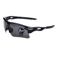 S1M#  2014 New Outdoor Unisex Outdoor Sport Sunglasses Cycling Glasses Black Frame Gray Lens