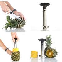 Wholesale 8sets/lot New EASY TOOL Stainless Steel Fruit Pineapple Corer Slicer Peeler Parer Cutter Cut Kitchen fruit Tools