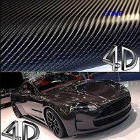 Car 4D AIR Black 152CM*40M Carbon Fibre Vinyl Wrap for car