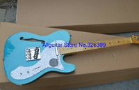 new style blue guitar 6 strings semi hollow electric guitars free shipping