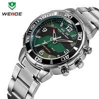 Original WEIDE Luxury Brand Watches Men Stainless Steel 30M Waterproof Japan Movement Quartz Analog Casual Sports Wristwatch