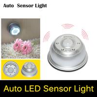 LED White Lamp Auto Sensor Action Move Motion Detector Night Lights Wireless Infrared 6 LED Light Lamp PIR NightLights