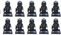 100pcs/lot Star Wars Microfighter TIE Interceptor Fighter Pilot mini action figure minifigure building brick toys