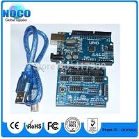 v5.0 Sensor Shield robot accessories V5 expansion board + UNO R3 REV3 MEGA328P ATMEGA16U2 for arduino