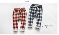 New 2015 baby girls plaid haram pant children kids fashion winter pants A139 top quality